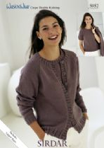 Sirdar Wash 'n Wear Double Crepe - 5052 Cardigan & Top Knitting Pattern
